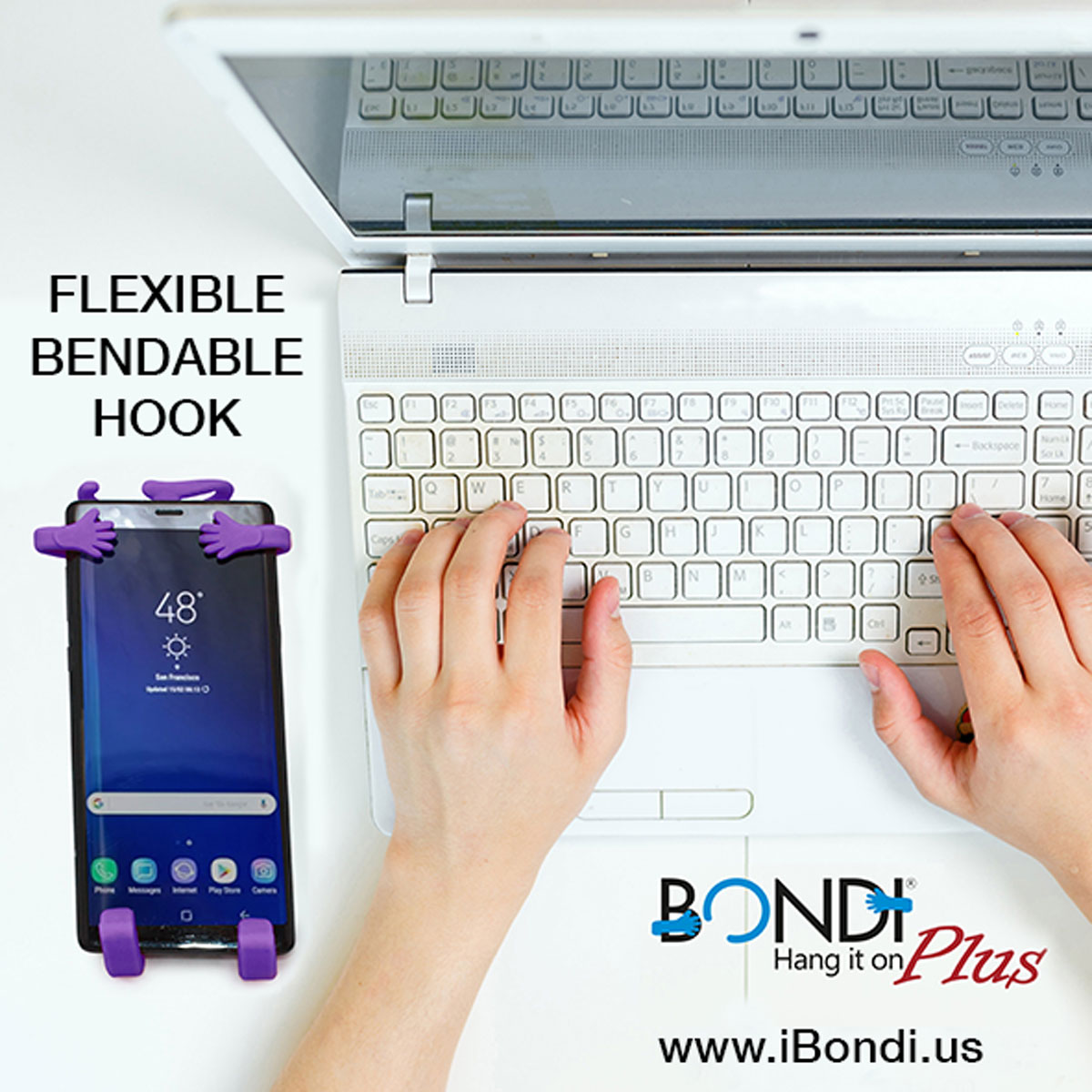 Bondi Plus bend hook purple