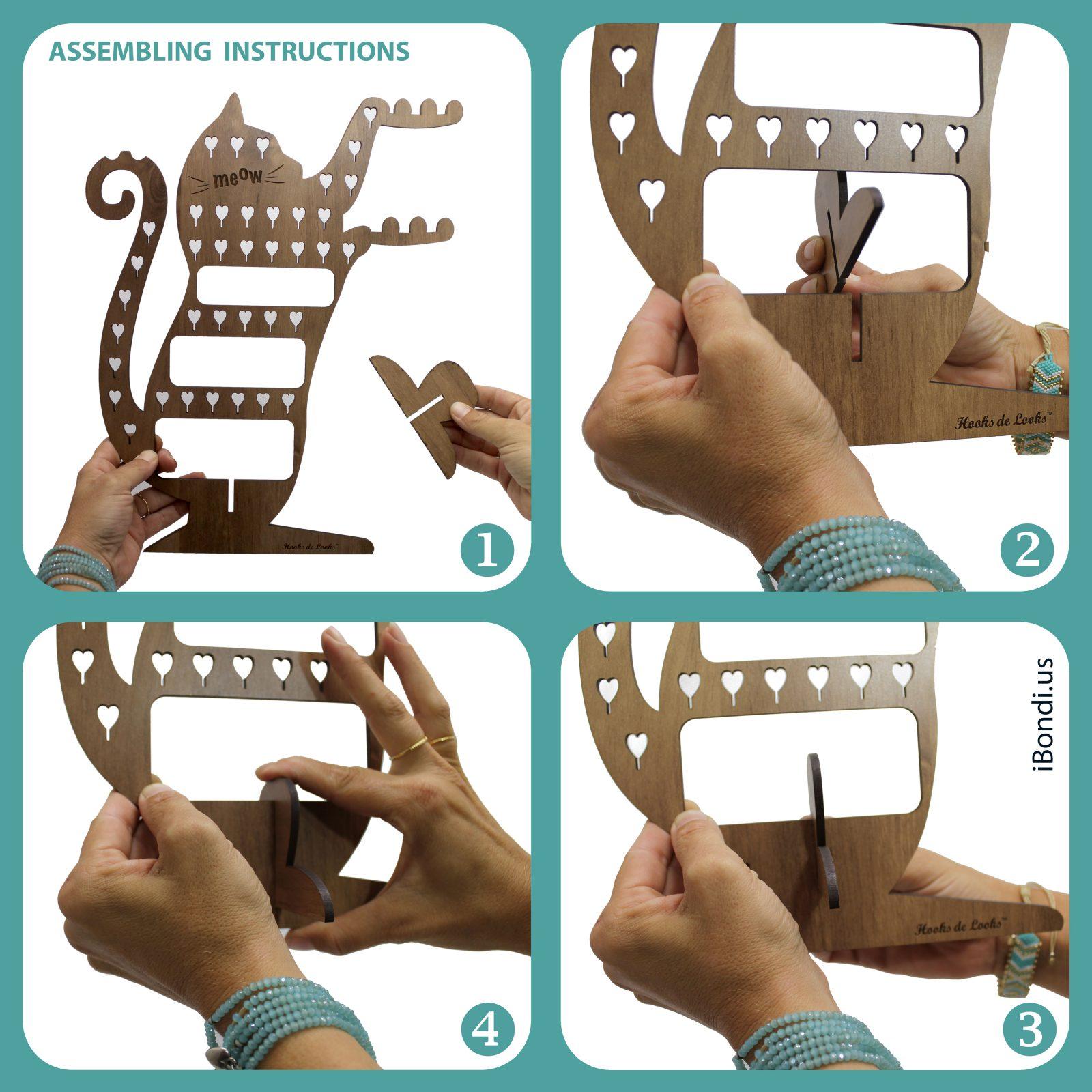 Jewelry display assembling
